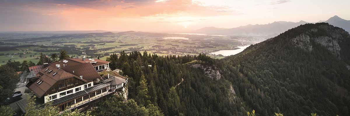 Das Burghotel Falkenstein in der grandiosen Allgäuer Alpenwelt