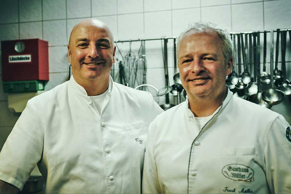 Rolf Müller (Küchenchef) und Frank Müller (Patron-Chef), die Top-Ausbilder im Gasthaus Müller
