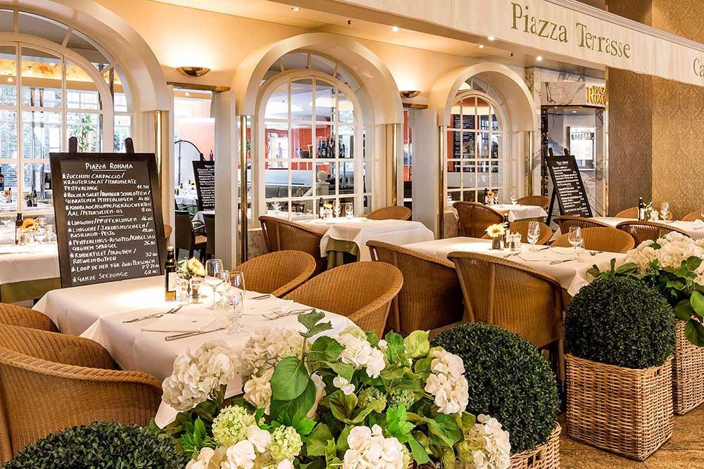 Grand Elysée, Hamburg:Italienische Cuisine im Piazza Romana