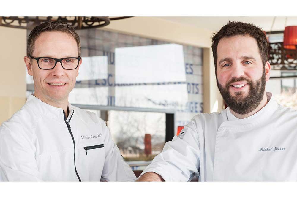 CARLS an der Elbphilharmonie: Die Top-Ausbilder Michel Rinkert (Küchendirektor) und Michel Jasser (Sous-Chef)
