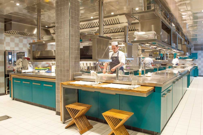 Marrone – 400-qm-Küche im Fünf-Sterne-Hotel San Pietro di Positano